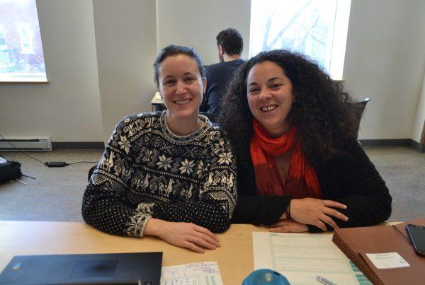 Photo de Céline-Audrey Beauregard et Ariane Perras, leaders de projets du futur Camp Éthel, cohorte 2019-2020 de l'Incubateur civique de la MIS