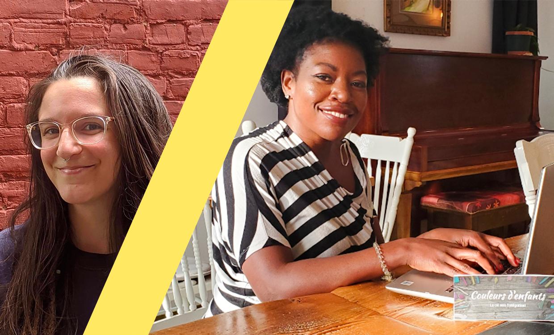 Jolette Côté et Audrey Lessard, porteuses du projet Couleurs d'enfants, lauréat de l'Incubateur civique